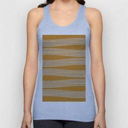 Wavy Stripes // Goldenrod Unisex Tank Top