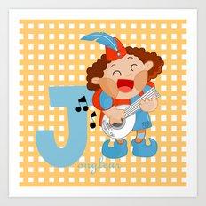 j for jongleur Art Print