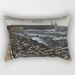 South Beach, Aberystwyth Rectangular Pillow