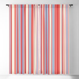 Stripe obsession color mode #3 Blackout Curtain