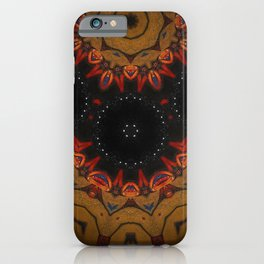 Vision // Geometric Abstract Fire Night Sky Star Vibrant Tribal Rustic Bohemian Boho Gypsy Shaman iPhone Case