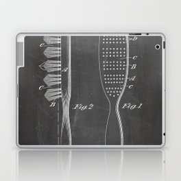 Hair Brush Patent - Salon Art - Black Chalkboard Laptop & iPad Skin