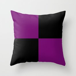 Psychedelic black and purple XIII. Throw Pillow