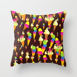 Ice Cream Background Design Throw Pillow