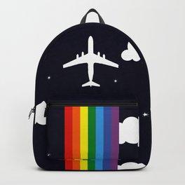 Rainbow airplane Backpack