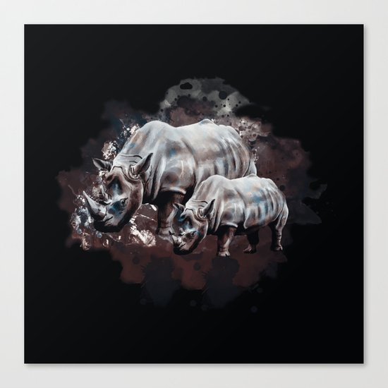 Dangerous Rhino Canvas Print