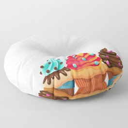 Cupcake Whisperer Bakery Chef Pastry Funny T-Shirt Floor Pillow