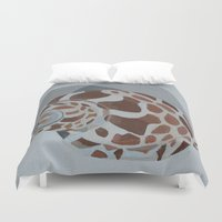 shells Duvet Covers featuring Shells by Marjolein