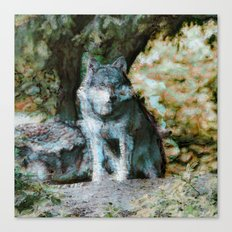 Abstract Animal - Wolf Canvas Print