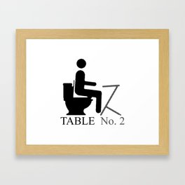 Table No. 2 Framed Art Print