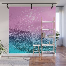 Tropical Beach Lady Glitter #1 #shiny #decor #art #society6 Wall Mural