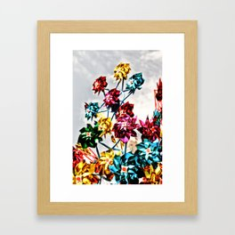Caught By The Wind Framed Art Print