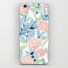 Flowers in Blue iPhone Skin