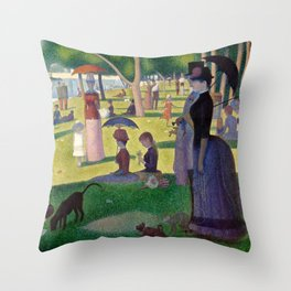 "Georges Seurat ""A Sunday Afternoon on the Island of La Grande Jatte"" Throw Pillow"