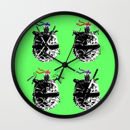 Heroes in a Half Shell Color Wall Clock