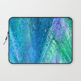 Bluish ▵triangulated▵ abstraction  Laptop Sleeve