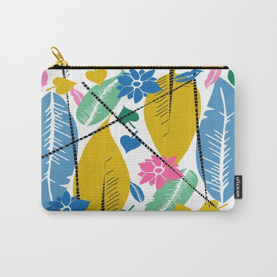 Feathers and leafs Carry-All Pouch