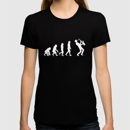 Saxaphone Evolution Funny  T-shirt