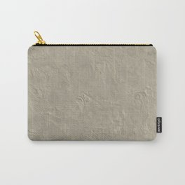 Beige Rough Plastering Texture Carry-All Pouch