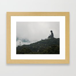 Lamposts. Framed Art Print