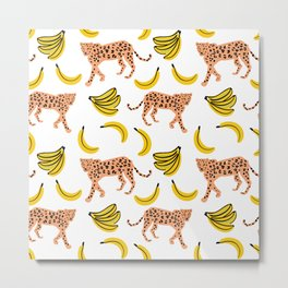 Leopards and bananas Metal Print