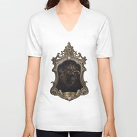 door V-neck T-shirts featuring door by Erica Petit Illustrations