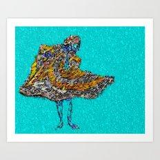 RAIN DANCE by CD KIRVEN Art Print