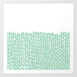 Half Knit Mint Art Print