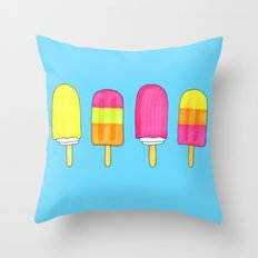 Popsicles (sweets #5) Throw Pillow