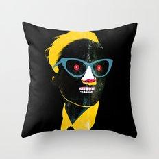 Smile in black Throw Pillow