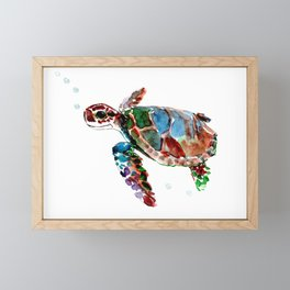 Baby Sea Turtle Framed Mini Art Print