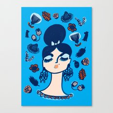 Diamonds and Pearls in Your Hair Canvas Print