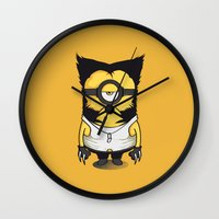 minions Wall Clocks featuring X-MINION by bimorecreative