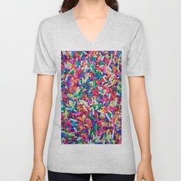 Rainbow Sprinkles Unisex V-Neck