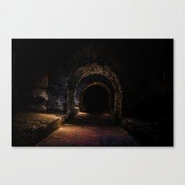 In the dark tunnel Canvas Print