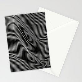 Minimal curves black Stationery Cards