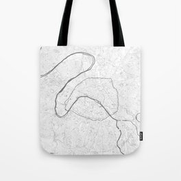 The Map of Paris Line Drawing Tote Bag