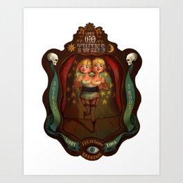 Very Odd Twins Art Print