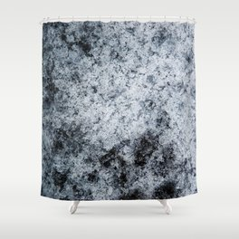 Ice Frost Crystals Shower Curtain