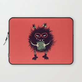 Evil Bug Student Loves To Read Laptop Sleeve