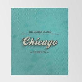 Vintage Chicago Throw Blanket
