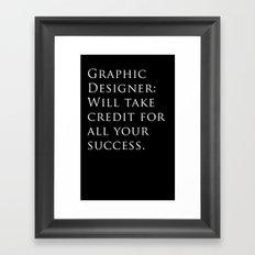 Graphic Designer: Framed Art Print