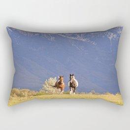 Paint Horses and Western Landscape Photograph Rectangular Pillow