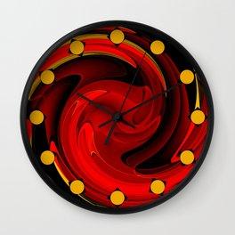 Tornado Red Wall Clock