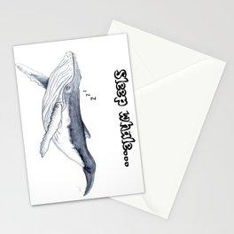 Sleep whale Stationery Cards