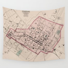 Vintage Map of Charlottesville VA (1877) Wall Tapestry