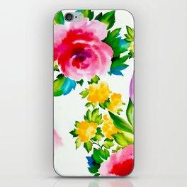 Watercolor Roses iPhone Skin