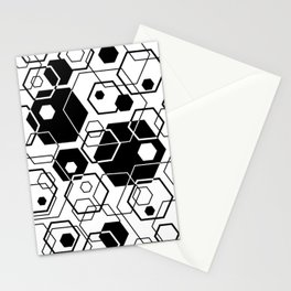 Hexagons Overlapped Stationery Cards