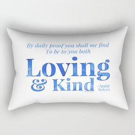 Loving & Kind in Blue Rectangular Pillow