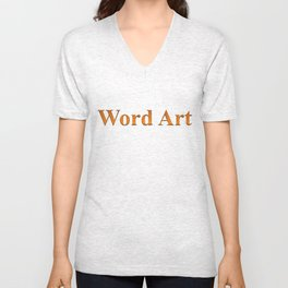 Word Art Unisex V-Neck